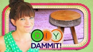 How-to Make A Concrete Stool W/ Allison Fields - Diy Dammit!