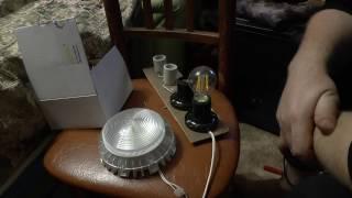 видео Светильники для помещений с лампами накаливания