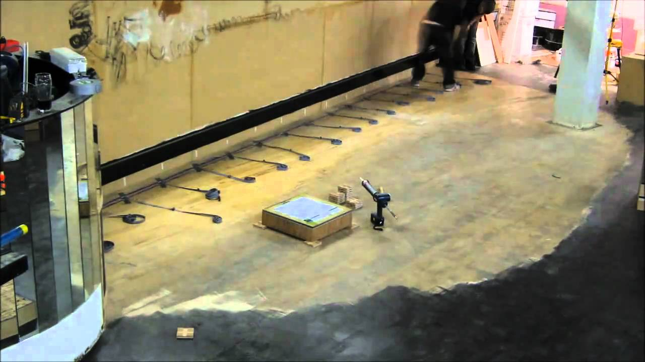 Led illuminated dance floor build time lapse youtube dailygadgetfo Choice Image