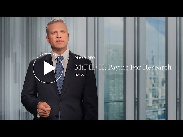 MiFID II: Paying for Research