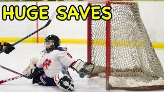 Kids Hockey Huge Saves Buffalo Regals vs Southern Tier Admirals