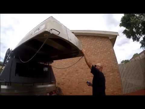 Home Made Roof Rack Boat Loader Youtube