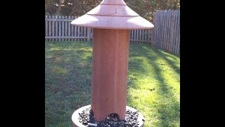 Turning A Mahogany Bird Feeder