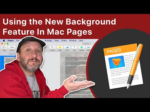 Using the New Background Feature In Mac Pages