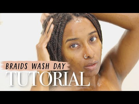 BRAIDS💦 WASH DAY | The Easiest Way! thumbnail
