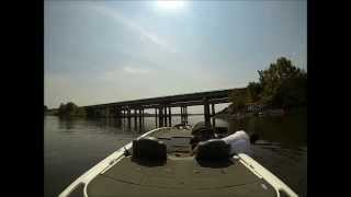Jordan Lake NC Shaky Head Bass Fishing