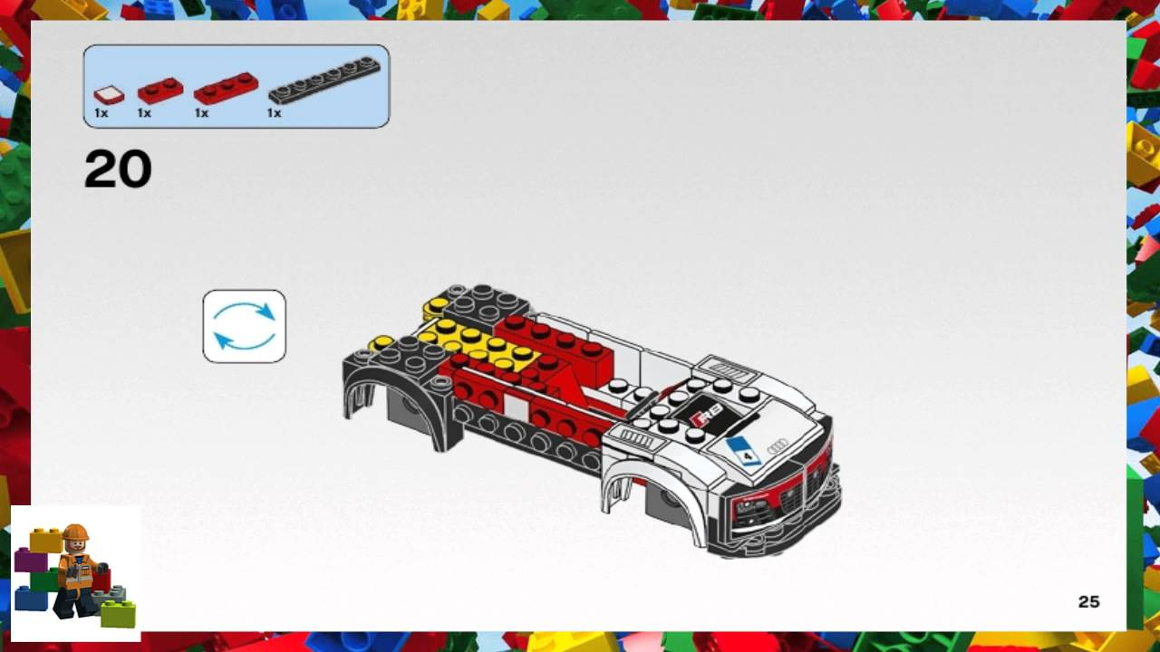 lego instructions speed champions 75873 audi r8 lms. Black Bedroom Furniture Sets. Home Design Ideas