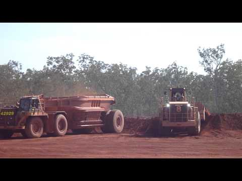 Bauxite Loading at the Rio Tinto Bauxite Mine at Wepia