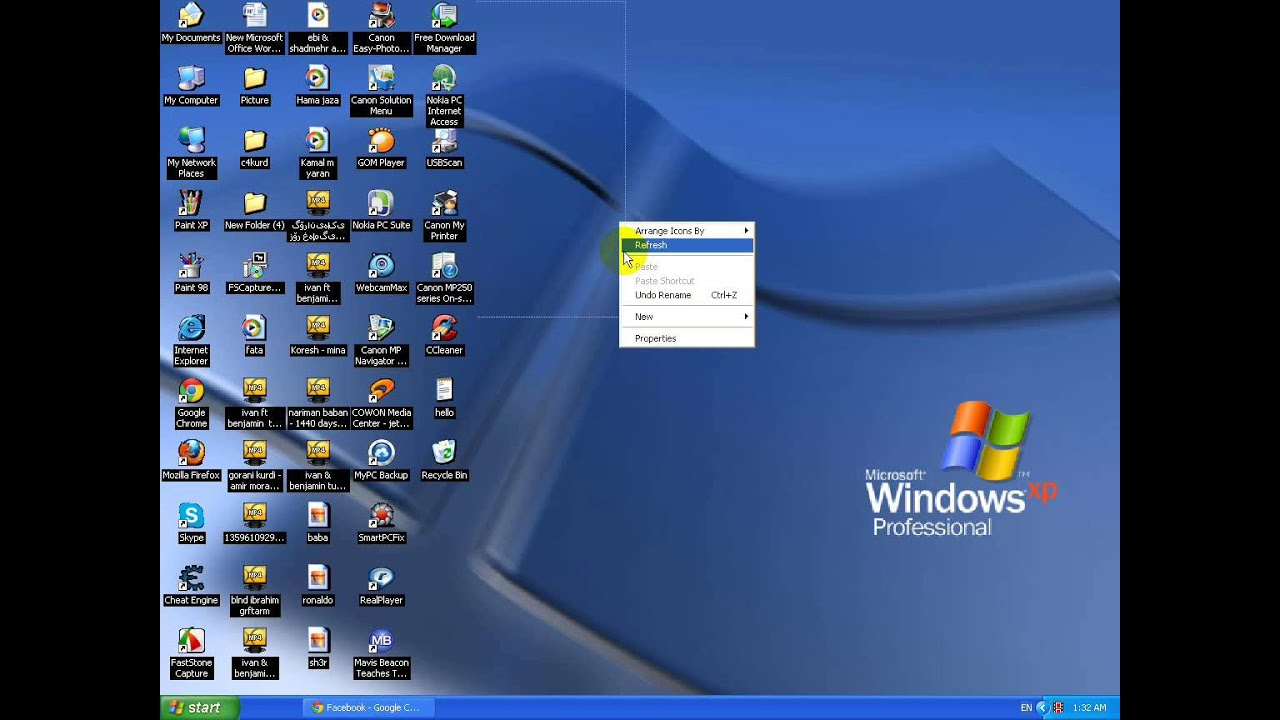 Blue Background Desktop Icons Spyware 99