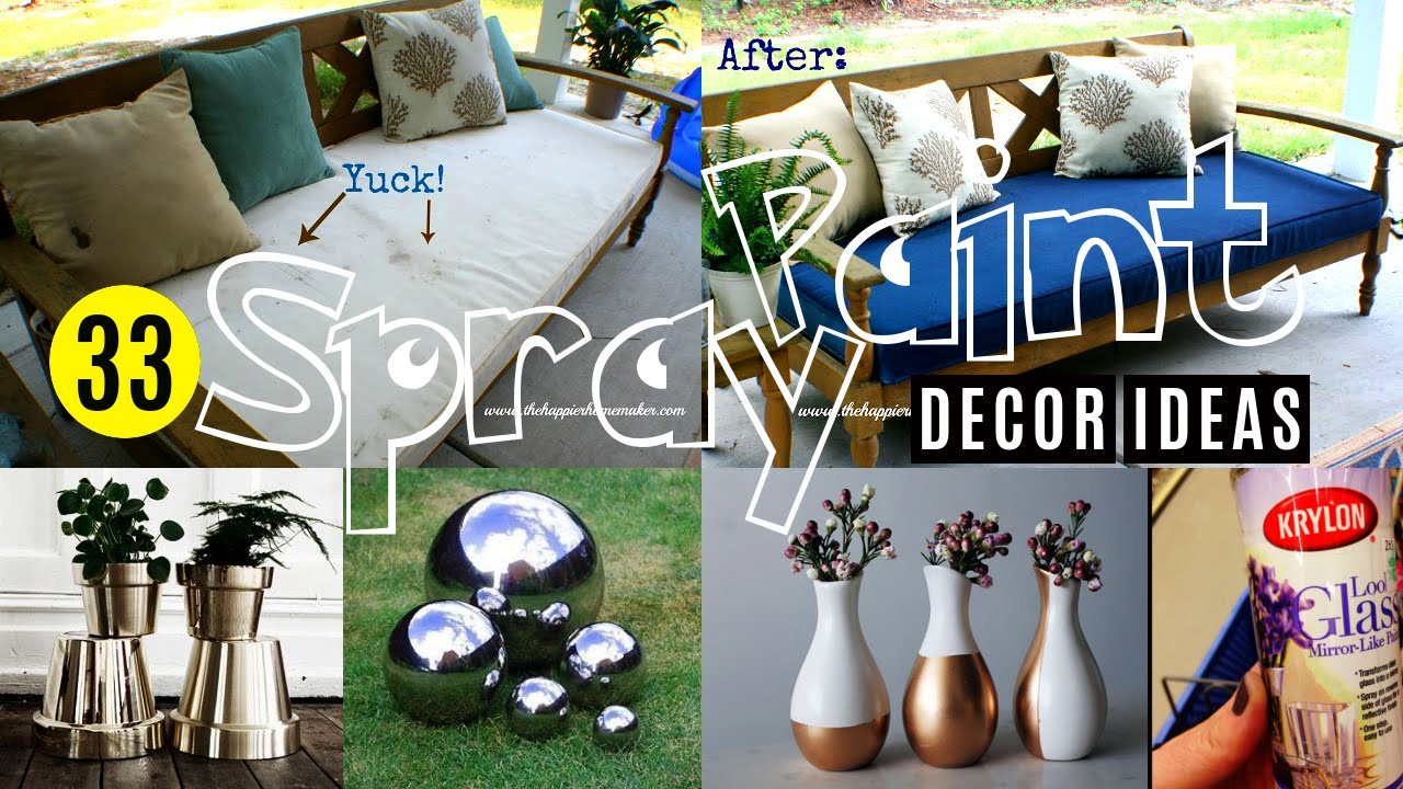Charming Spray Paint Design Ideas Part - 6: 33 Decor Ideas With Spray Paint