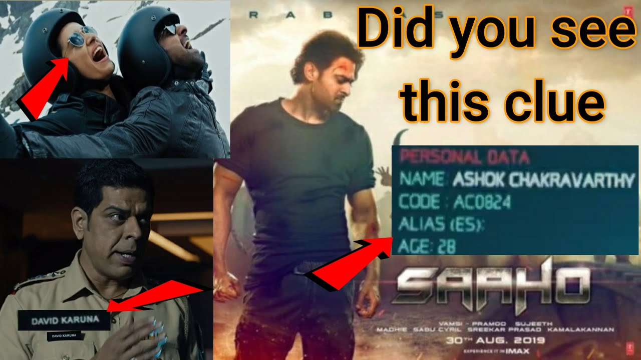 #Saaho  Did you see this clue