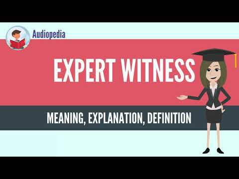 What Is EXPERT WITNESS? EXPERT WITNESS Definition & Meaning