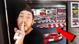 SNEAKING INTO A GO KART TRACK!