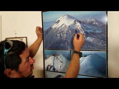 Expert guide explains the route up Pico de Orizaba, Puebla, Mexico
