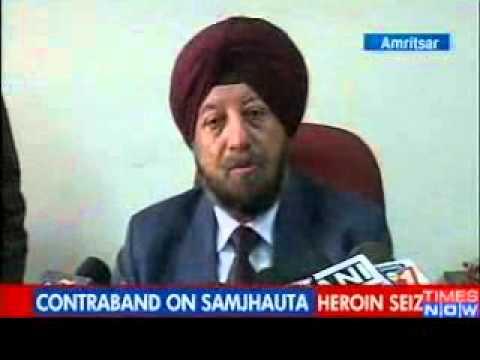 Heroin smuggled on Samjhauta train   Video   The Times of India