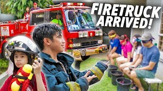 Water Festival PRANK On Family (FIRETRUCK Arrived!) | Ranz and Niana