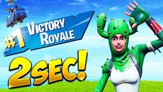 *WORLD RECORD* FASTEST WIN IN 2 SECONDS! - Fortnite Funny Fails and WTF Moments! #519