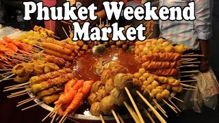 Phuket Weekend Market. Shopping and Thai Street Food in Phuket Town, Phuket Thailand.