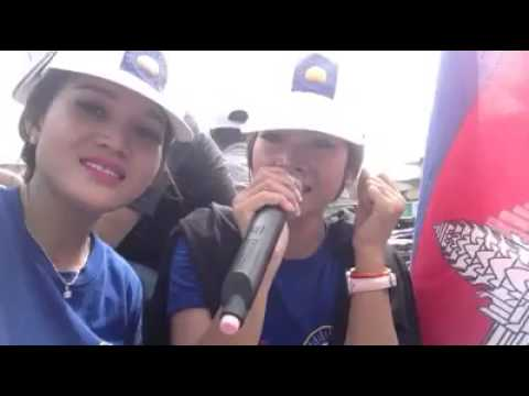 CNRP supporters sing a song for election council.