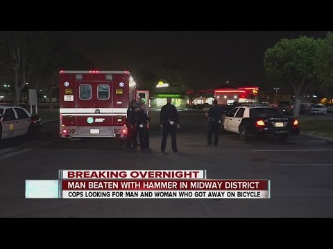 Midway homeless man attacked with hammer