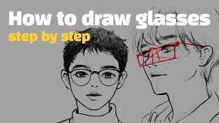[ENG|기초드로잉] 안경 쉽게 잘 그리는 방법 |스케…