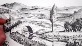 How to Draw a Landscape: Pencil Drawing: Narrated