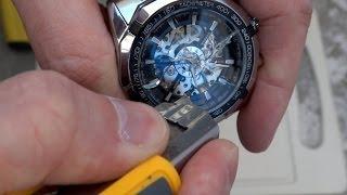 видео Часы скелетоны Winner Luxury Black (черный циферблат)