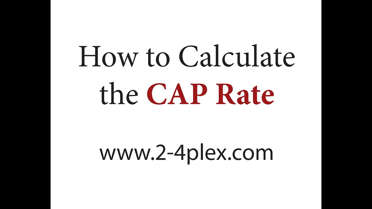 How To Calculate the Cap Rate - YouTube