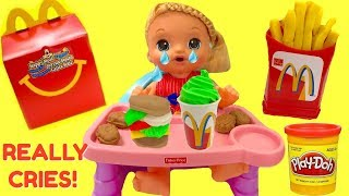 BABY ALIVE Sweet Tears Cries Baby Doll Eats McDonald