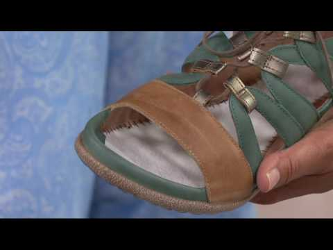 Naot Leather Ghillie Sandals - Selo on QVC