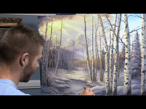 Birch Tree Forest  Paint with Kevin ®