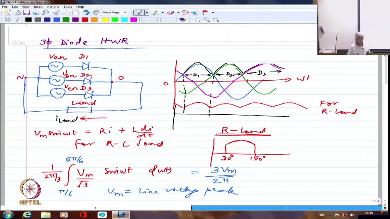 Lecture 8:Three Phase Rectifiers - I - Electronics