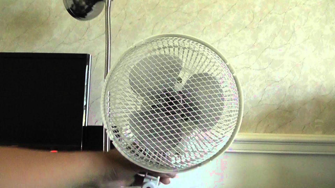 7 Quot Holmes Oscillating Clip On Fan Model Hapc9 Youtube