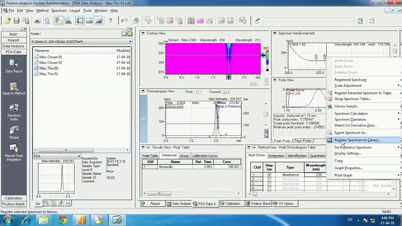 Software manuals Lab Solution, LC Solution Shimadu 20A 2030 Detector UV-Vis  PDA from A to Z