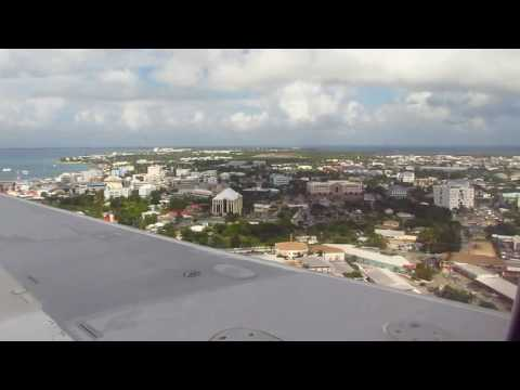 Landing at Owen Roberts International Airport - Grand Cayman