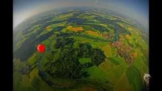 Ballonfahren am Chiemsee über dem Chiemgau in Bavaria