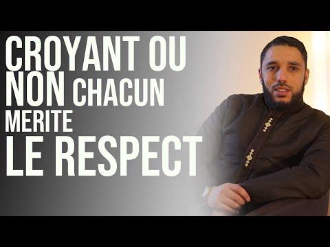 Croyant ou non, chacun mérite le respect.  Rachid Eljay