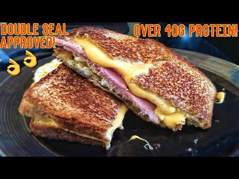 High Protein Bodybuilding Grilled Cheese Sandwich | Easy Low Carb Recipe