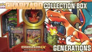 Pokemon Cards - Charizard EX 20th Anniversary Red and Blue Collection Box Opening | GENERATIONS!