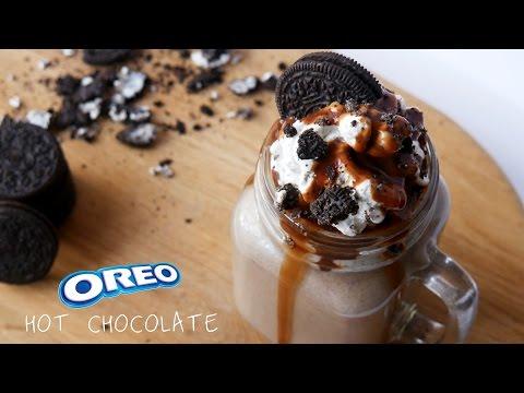Oreo Cookies & Cream Hot Chocolate - Hot Chocolate Series Part 5 - ASMR- Treat Factory