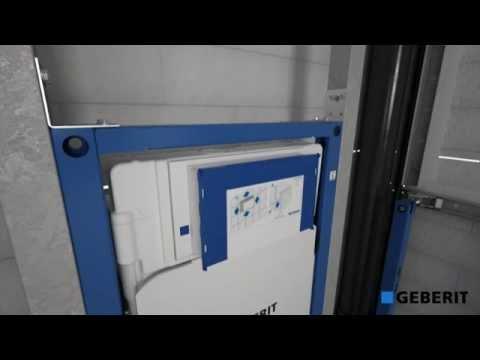 Geberit duofix sigma cistern 12 cm with duofix washbasin for Geberit installation system