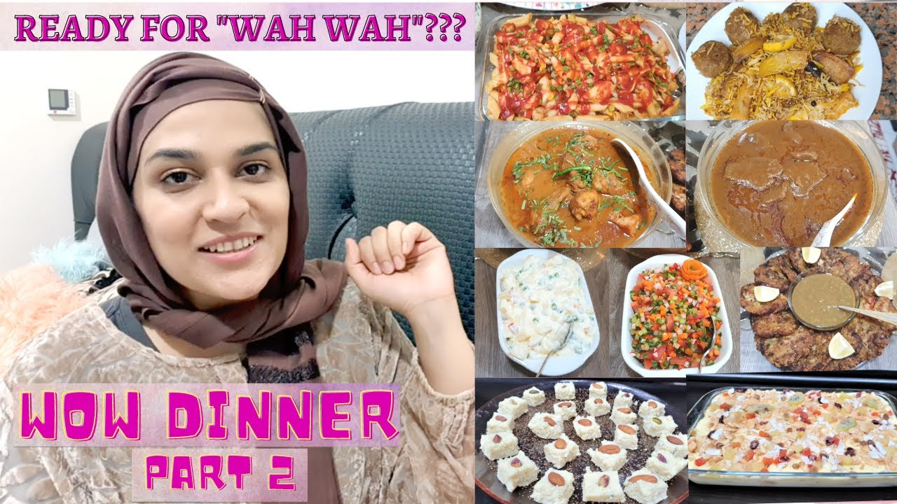 Dawat Series -Ep 2 - Dinner Day Cooking - 10 -12 dishes in one day is not difficult