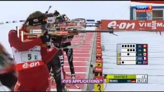 Биатлон Кубок мира 2013 2014 3 этап эстафета женщины Анси