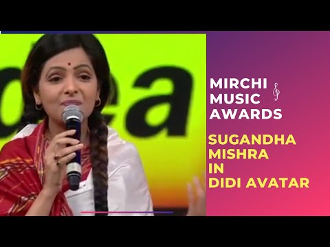 Thumbnail: Sugandha Mishra in her Didi avtaar at the 7th Royal Stag Mirchi Music Awards!