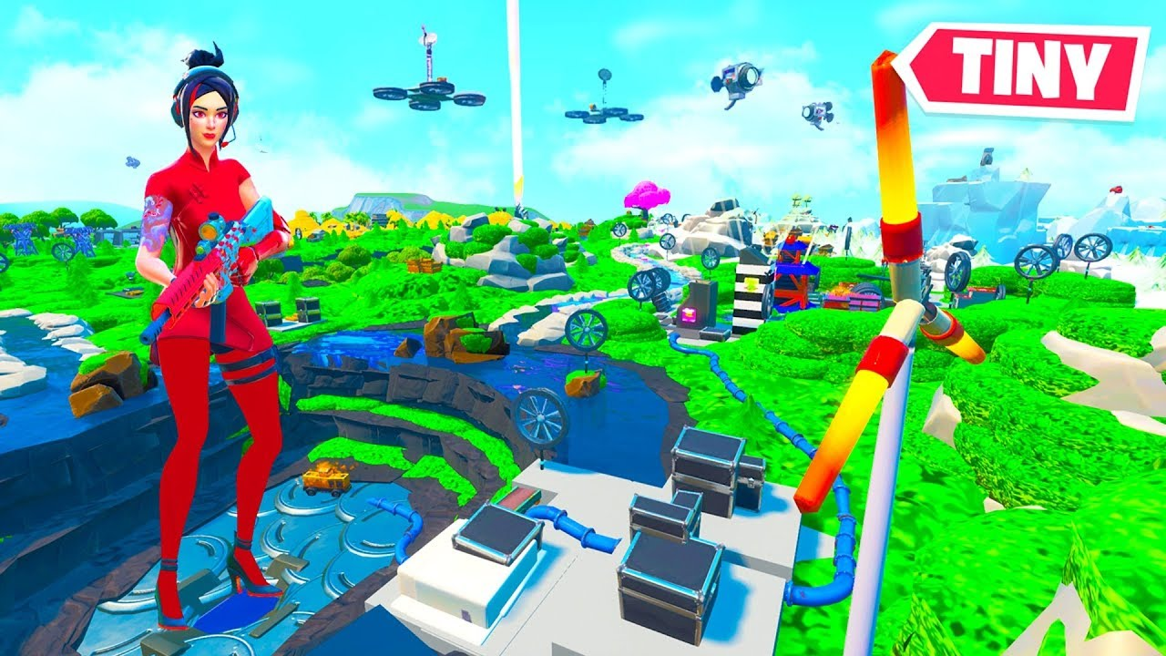 Tiny Fortnite Season 9 Map Creative Mode Youtube