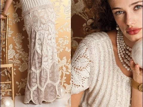 Bootie Knitting Patterns Easy : #1 Wedding Dress, Vogue Knitting Fall 2012 - YouTube