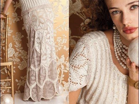 Knitting Pattern Wedding Dress : #1 Wedding Dress, Vogue Knitting Fall 2012 - YouTube