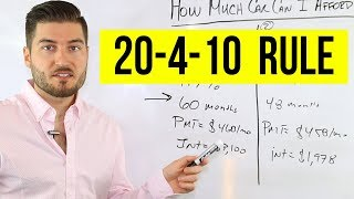 How Much Car Can I Afford (20/4/10 Rule)