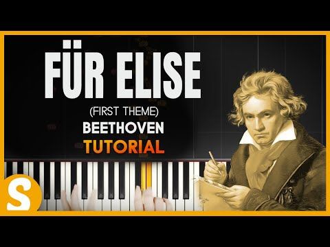 "How To Play ""Für Elise"" by Beethoven (Synthesia) [Piano Tutorial] [HD]"