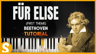 "How To Play ""Für Elise"" by Beethoven (Synthesia) [Piano Tutorial] [HD] - Stafaband"